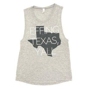 ➿NOVELTY ➿ EFFING TEXAS • Sleeveless Shirt ➿